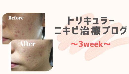 【原因不明ニキビ】低用量ピル(トリキュラー)ブログ 3週間目
